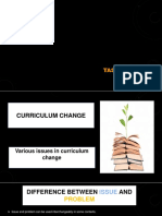 various issues in curriculum change