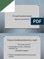 E Mail Institucional