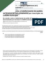 Município Não Pode Recusar Licença de Funcionamento Por Pendência No CADIN - Jus.com.Br _ Jus Navigandi