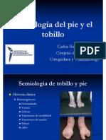 Semiologia Del Pie y El Tobillo