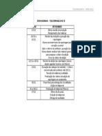 Cronograma -Salvador Em Pauta-Telejornalismo II