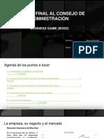Presentación Informe final al consejo de administración Business Plan