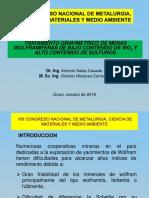 PRESENTACION Concentracion Gravimetrica de WO4