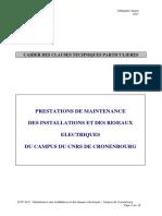 CCTP Maintenance Electrique