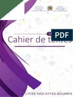 Cahier de Textes 2018-2019