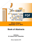 Book of Abstracts ECAART10