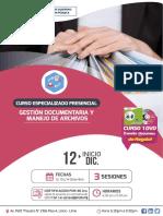 CURSO PRESENCIAL DE GESTIÓN DOCUMENTARIA Y MANEJO DE ARCHIVOS