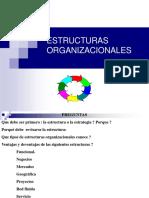 Tipos de Esturutras Organizacionales