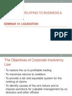 Seminar 10 Liquidation
