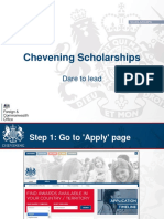 Chevening (Dos & Donts)