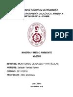 Informe Monitoreo de Aire Mineria