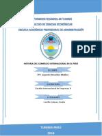 Historia Del Comercio Internacional en El Perú