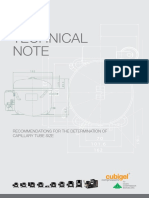 Technical Note Capillary Tube Size
