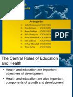 Human Capital Education and Health in Development Economics