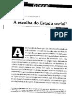 A escolha do Estado social