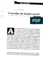 A escolha do Estado social