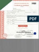 Certificado de Habilidad Victor