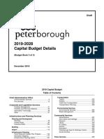 City of Peterborough 2019 draft Capital Budget