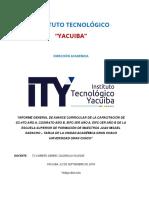 Instituto Tecnológico Informe Universidad de Caiza