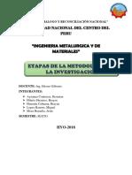 Etapas de La Metodologia de La Investigacion