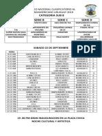 Rol de Partidos Oficial Del Torneo Nacional Clasificatorio Al Latinoamericano