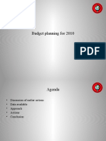 Budget Planning for 2010