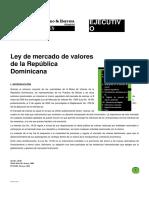 Ley de Mercado de Valores de La República Dominicana