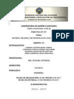 Practica n.7 - Materia Orgánica en Muestras de Agua y Su Remoción