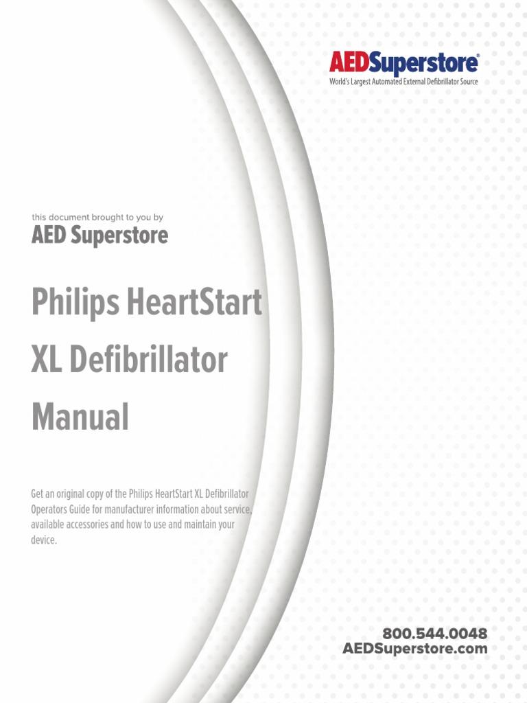 Philips Heartstart Xl Defibrillator Manual | Artificial Cardiac
