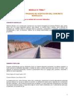 Tema 4.8.- Propiedades y Pruebas de Aceptación Del Concreto Hidraúlico