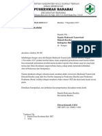 Surat Balasan Bantuan Obat Uks Ke Mts Diniyah Barabai