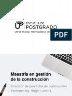 1 Gestion de Proyectos - MACO 2017-I - UTP