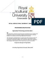 Programme Specification - MSc Agricultural Technology & Innovation