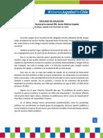 Discurso de Asunción - Pdte. Juventud RN, Javier Molina.