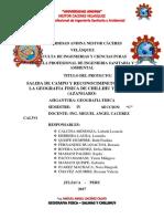 Informe de Salinas y Chillihuy