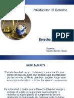 Derecho Subjetivo, Relacion Juridica y Hecho Juridico