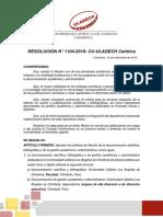 RESOLUCION N°1104 Politicas de Filiación