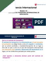 SESIÓN N°15 CONTRATO DE TRANSPORTE INTERNACIONAL DE MERCANCÍAS