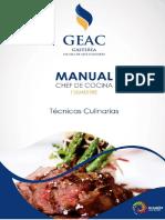 Recetario Tecnicas culinarias