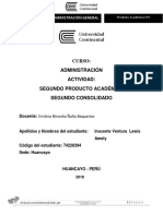 Producto Académico N2 Administración