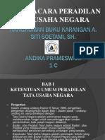 ANDIKA PRAMESWARI 1C ppt rangkuman buku hukum acara peradilan tata usaha negara.pptx