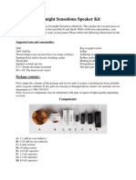 Overnight Sensations Speaker Kit Manual
