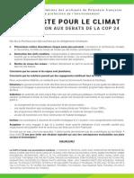 Manifeste FAPE cop24