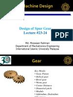 14. Design of Spur Gear