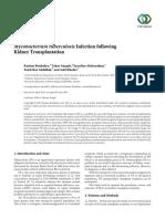 Tuberculisi Infeccion Folliwing Kidney Trasplatacion