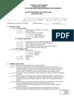 Floorplan Checklist