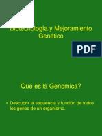 Biotecnologia y mejoramiento genetico