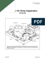 Millikan Oil Drop Manual (AP-8210A)