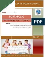 Portafolio matematica - uladech- eduacion primaria