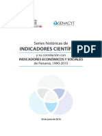 10.3 Serie Históricas de Indicadores Científicos